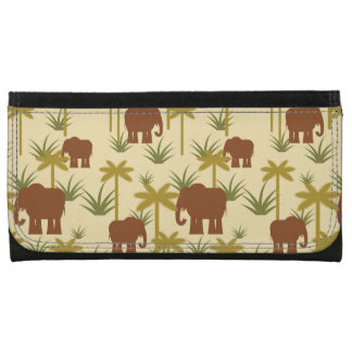 Portefeuille Éléphants et paumes dans le camouflage