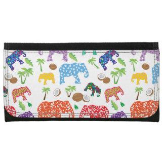 Portefeuille Éléphants tropicaux