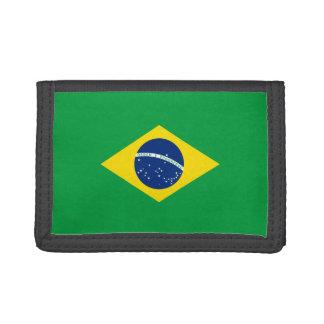 Portefeuille en nylon triple de drapeau du Brésil