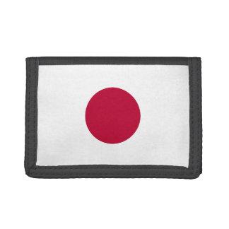 Portefeuille en nylon triple de drapeau du Japon