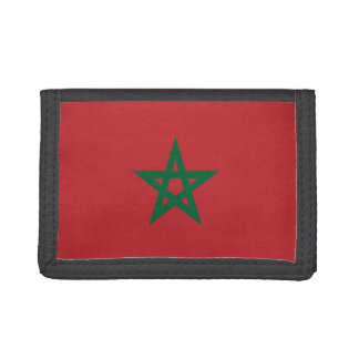 Portefeuille en nylon triple de drapeau du Maroc