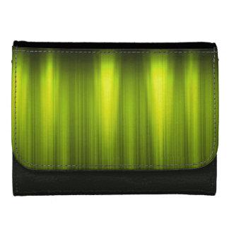 Portefeuille Énergie verte et blanche - cuir noir de Faux