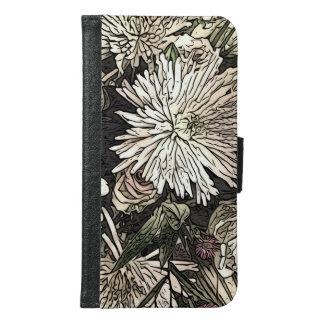 Portefeuille floral de téléphone de galaxie
