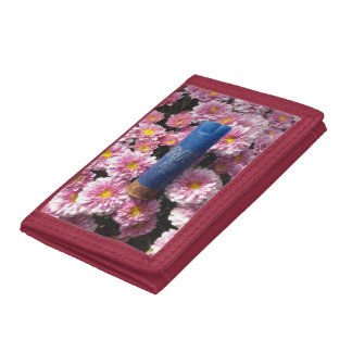 Portefeuille floral rouge de Shell de munitions