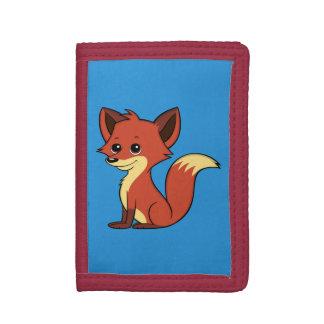 Portefeuille mignon de bleu de Fox de bande