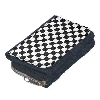 Portefeuille Motif checkered noir et blanc