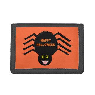 Portefeuille noir d'araignée de Halloween