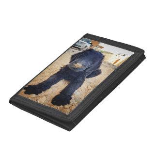 Portefeuille noir de chiot de Terrier de Russe