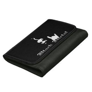 Portefeuille noir en métal