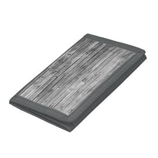Portefeuille - nylon - bois patiné de grange