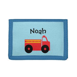 Portefeuille personnalisé de camion de pompiers