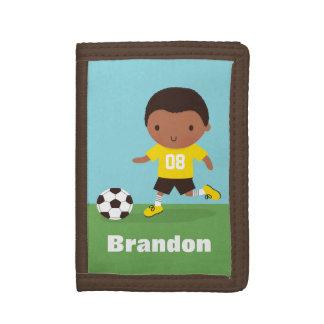Portefeuille personnalisé par garçon du football