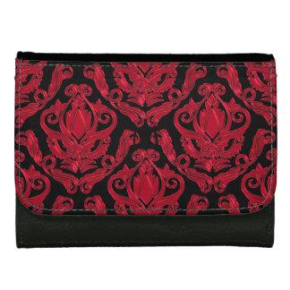 Portefeuille rouge et noir élégant d'impression de