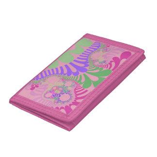 Portefeuille triple de mod d'arc-en-ciel rose