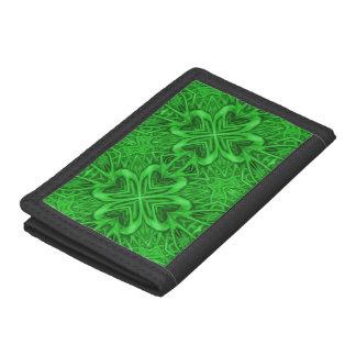 Portefeuille vintage de kaléidoscope de vert