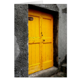 Portes de la carte de note de Cinque Terre