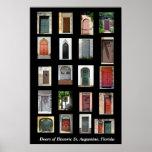 Portes de St Augustine historique, la Floride Affiche
