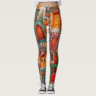 Portes du coloré unique du monde leggings