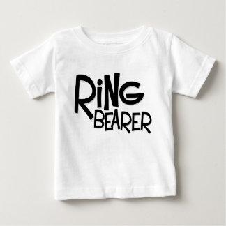 Porteur d'alliances de hippie t-shirt pour bébé