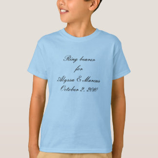 Porteur d'alliances pour le ________ t-shirt