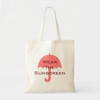 Portez les vacances de plage de protection solaire sacs de toile