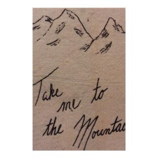 Portez-moi aux montagnes papeterie