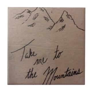 Portez-moi aux montagnes petit carreau carré