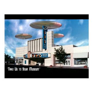 Portez-nous à votre musée carte postale