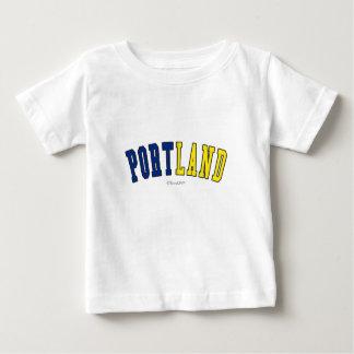 Portland dans des couleurs de drapeau d'état de t-shirt pour bébé