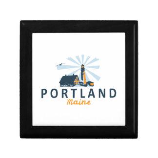 Portland Maine Boîte À Souvenirs