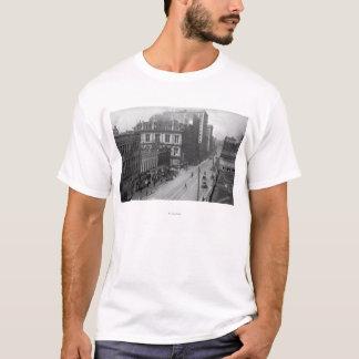 Portland, OU vue de troisième photographie de rue T-shirt
