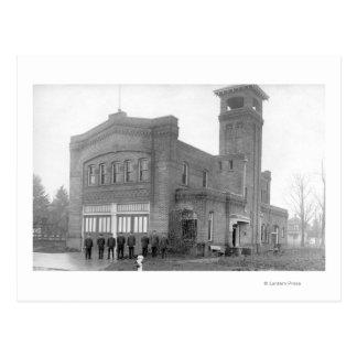 Portland, OU vue et tour de caserne de pompiers Carte Postale