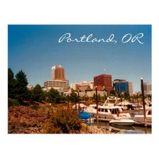 Portland par la carte postale de rivière
