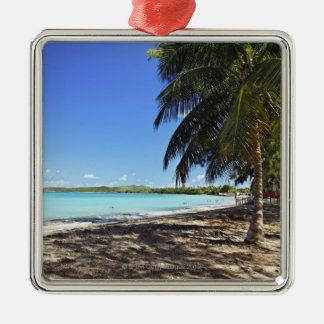 Porto Rico, Fajardo, île de Culebra, sept mers Ornement Carré Argenté