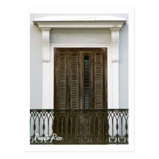 Porto Rico, ventanas Viejo San Juan Cartes Postales