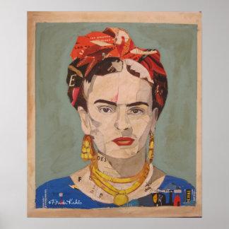 Portrait 2 d'en Coyoacán de Frida Kahlo Affiche