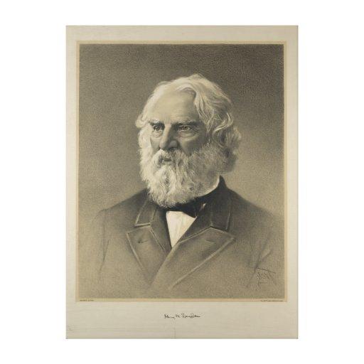 Portrait américain de Henry Wadsworth Longfellow d Impressions Sur Toile