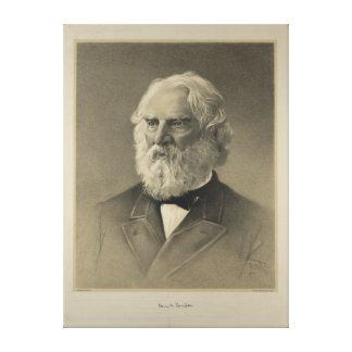 Portrait américain de Henry Wadsworth Longfellow Toile Tendue
