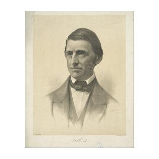 Portrait américain de Ralph Waldo Emerson d'essayi Impression Sur Toile