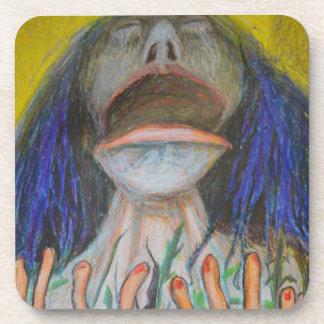 Portrait avec des lézards dessous-de-verre