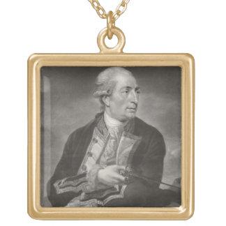 Portrait capitaines d'agriculteur de George de 173 Collier Plaqué Or
