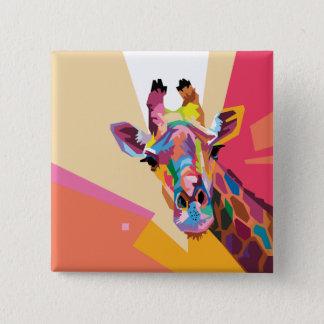 Portrait coloré de girafe d'art de bruit badge