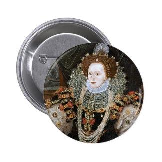 Portrait d Elizabeth I Badges Avec Agrafe