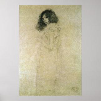 Portrait d une jeune femme 1896-97 posters