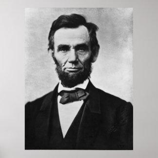 Portrait d'Abraham Lincoln Poster