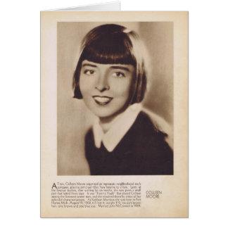 Portrait d'actrice de film silencieux de Colleen Carte De Vœux