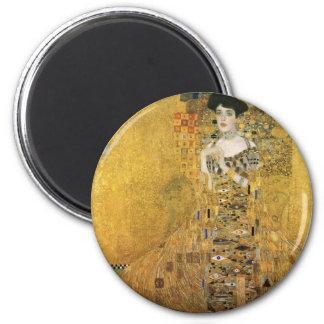 Portrait d'Adele Bloch-Bauer Magnet Rond 8 Cm
