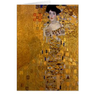 Portrait d'Adele Bloch-Bauer par Gustav Klimt 1907 Carte De Vœux