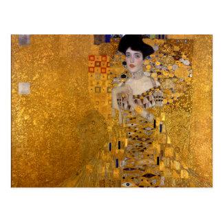 Portrait d'Adele Bloch-Bauer par Gustav Klimt 1907 Carte Postale