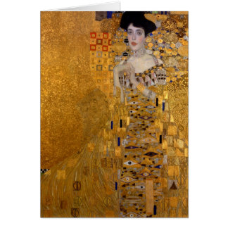 Portrait d'Adele Bloch-Bauer par la note de Klimt Cartes De Vœux